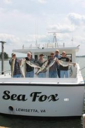 Group of fishers aboard the Sea Fox