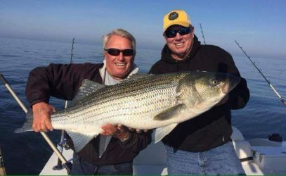 Men catch fish at Chuck's Charters
