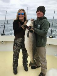 Couple catch large fish
